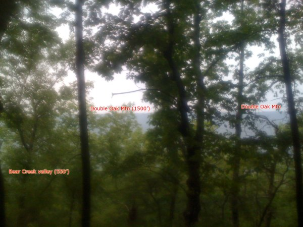 Annotated view from front ridgeline of Signal Mountain