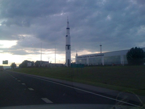 Driving by the Huntsville space and rocket center