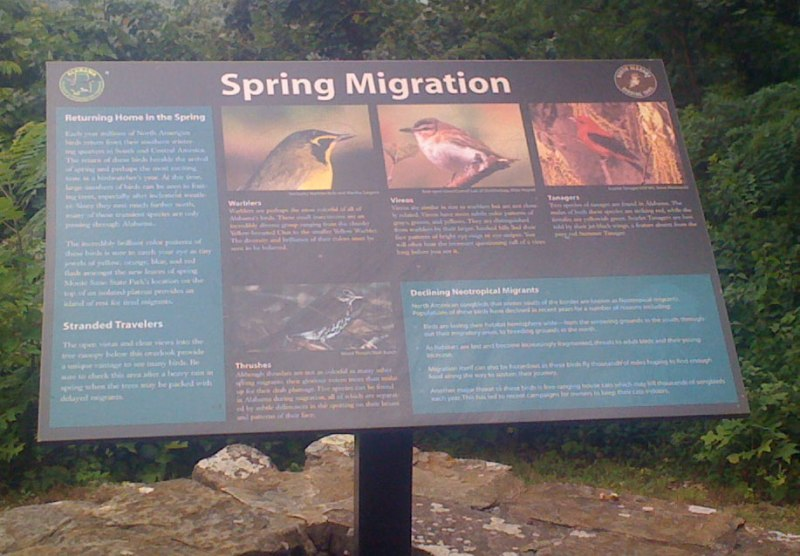 Informational sign at the Monte Sano overlook