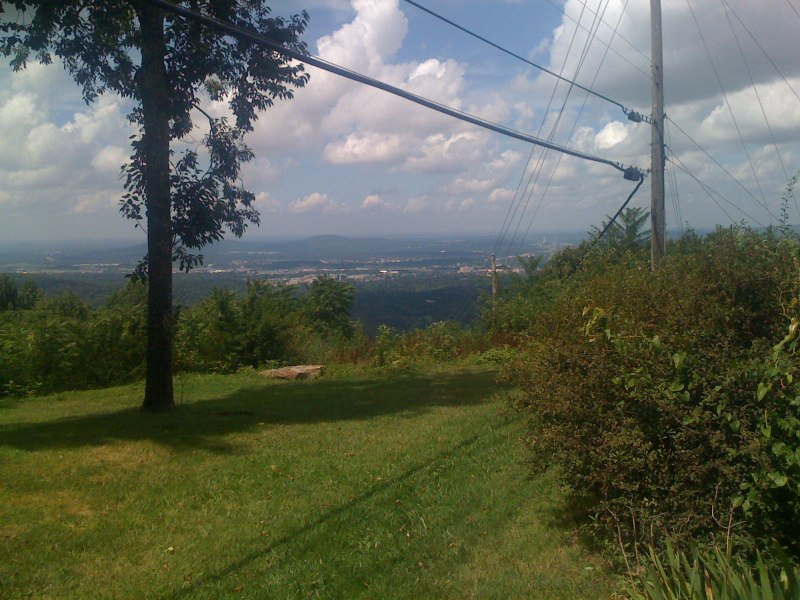 View looking towards downtown Huntsville from the top of Monte Sano