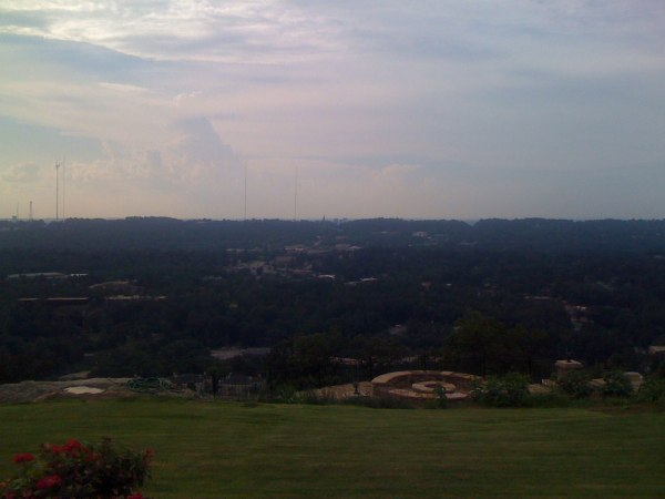 View of the Vulcan on Red Mountain from the top of Vestavia Dr on Shades Mountain