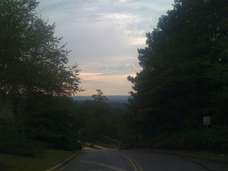 Sunrise on South Cove Dr - check out all the ridges