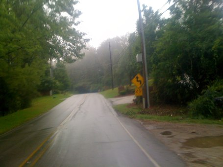 Rainy streets and even a bit of fog on Dolly Ridge ... heading back out after the thunderstorm