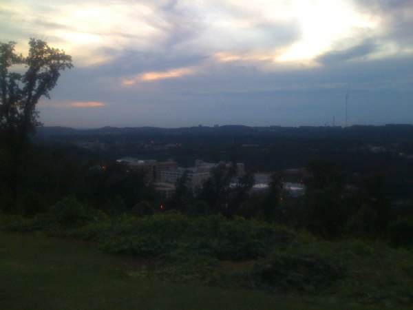 Sunset - Brookwood Hospital (where Josiah was born) plus Samford University (where I work)
