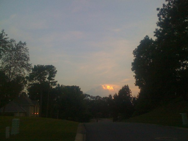 Thursday ride - a different storm cloud farther in the distance (towards Alabaster)
