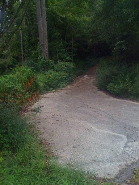 Friday ride - the Vestavia High School back driveway secret entrance - 30% max gradient - plus pine straw, mud, a gate, and rocks