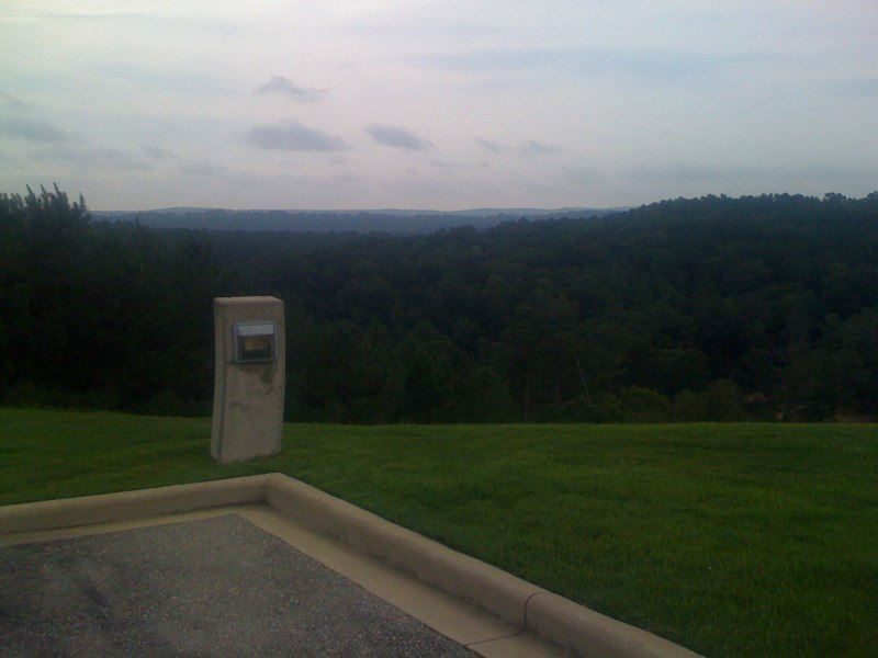View from the Healthsouth Helipad looking towards the Double Oak ridge lines (Brook Highlands, Hugh Daniel, and Double Oak itself)