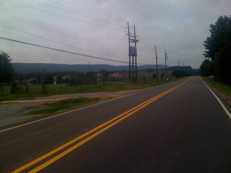 Looking along the double oak ridge line from Co Rd 41