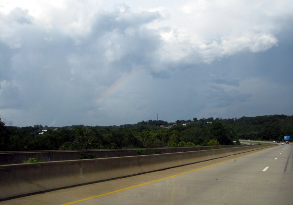 Rainbow approaching Athens