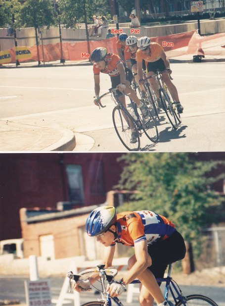 1994 - I lapped the field with Dan Hubbard from UTK in my first collegiate race (Cat B, Michellin Classic) - I ended up taking 2nd even though I had Bert and Pat to help lead me out - my sprint was awful - no power