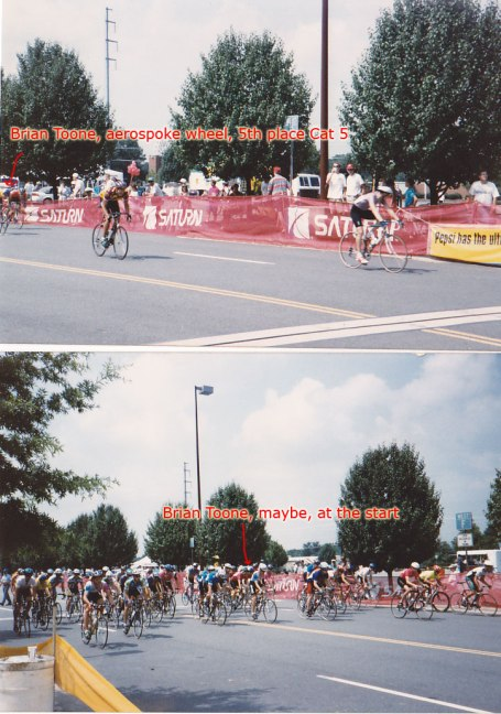 1994 - my first and only cat 5 race. I upgraded to cat 4 based on my collegiate results