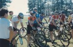 1996 - Clemson dirt criterium - precursor to today's cyclocross mania. I lapped everybody except for the 2nd place rider. In retrospect, I probably should not have been racing the B category. My teammate Bert Hull did pretty much the same thing in the A category lapping everyone and winning by a long way.