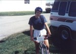 1993 - After my first mountain bike race - the 1993 Cumberland Classic at Sewanee, TN. 6th in the juniors and 25th in the beginners (there were 100 people in the race!)