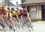 1995 - Coming out of the chicane in the Augusta criterium - cat 4