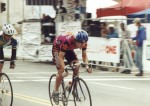 1995 - Augusta criterium cat 4 - my clemson teammate Pat just behind. He was a great sprinter - probably won this race