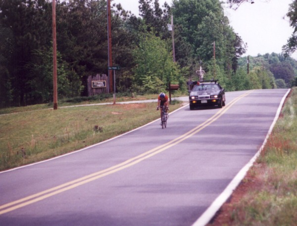 1995 - Clemson Collegiate Road Race - off the front