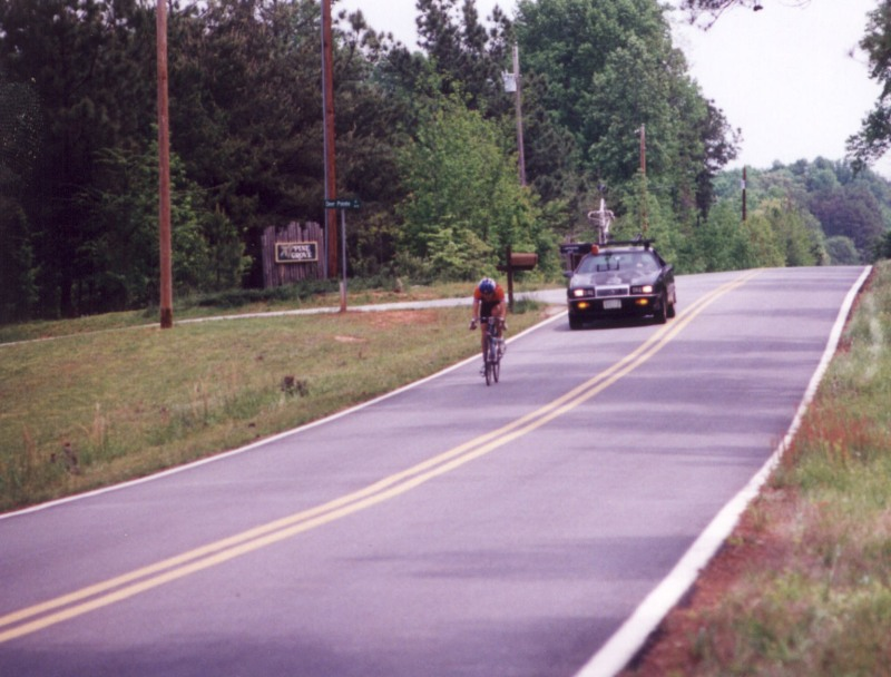 1995 - Clemson Collegiate Road Race - off the front