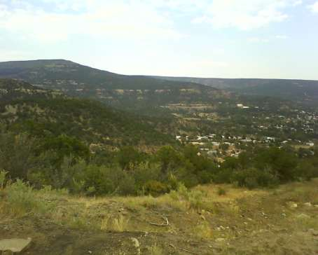 Looking down towards Raton, NM