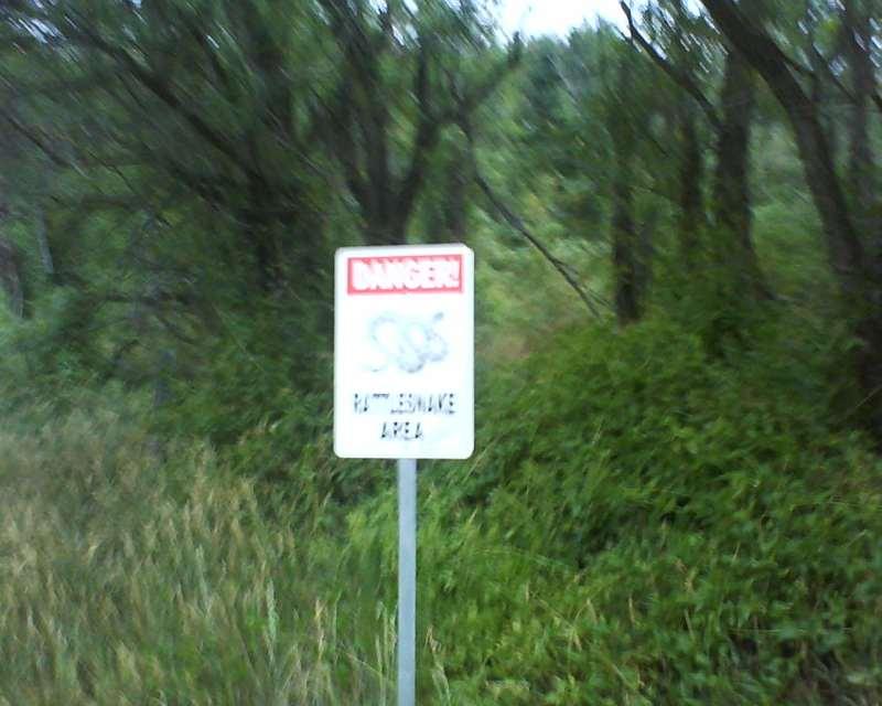 Danger - rattlesnake area