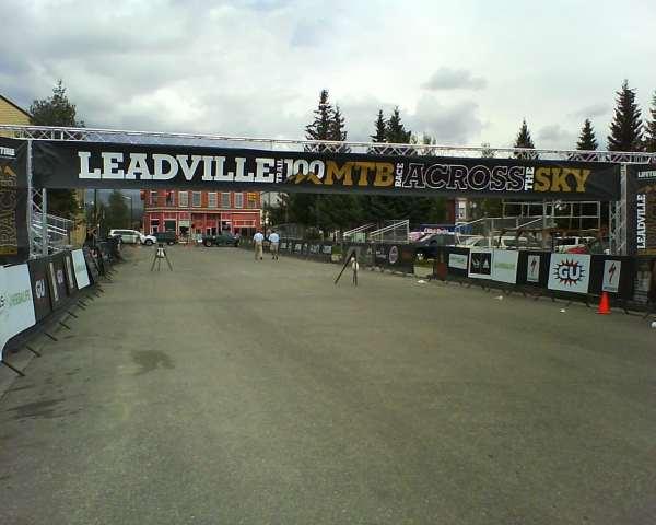 Leadville trail 100 start/finish line