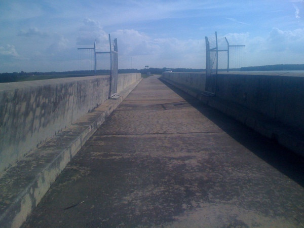 Part of the dam