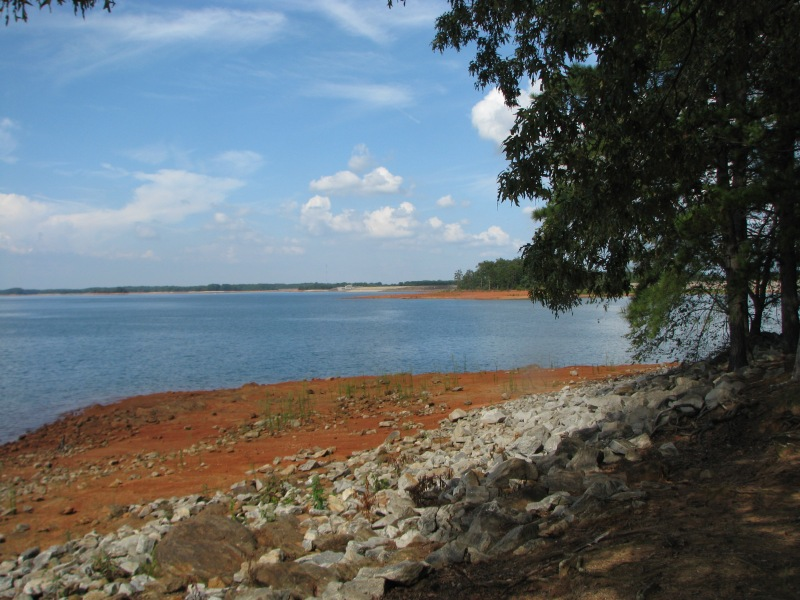 Far off view of the dam