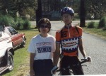 1994 - Maddog Mountain Bike Race, Springville, AL - I stop for a pic with my mom before the start