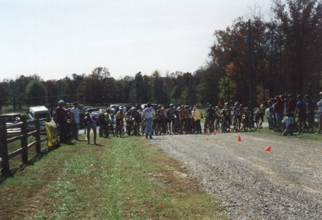 1994 - Maddog Mountain Bike Race, Springville, AL - the sport category lines up for the start