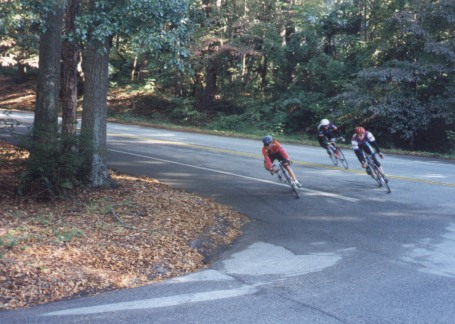 1996 - Cleveland Park race during the Michellin Classic weekend - rounding the final corner in the collegiate race