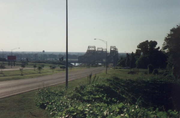 1994 - Natchez Cycling Classic - my first view of the Mississippi River