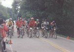1994 - Rocket City Mountain Bike Race - Hunstville, AL - the sport category lines up for the start