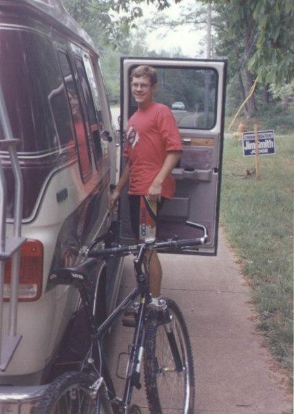 1994 - Rocket City Mountain Bike Race - shown is my Schwinn Series 70 mountain bike, which I raced on until 1999 and then kept as a commuter bike until it was stolen in 2004 at UC Davis
