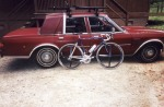 1997 South Carolina Road Race - 1st place, Cat 1/2/3 state championship. I didn't have a camera with me so when I made it back to Clemson I snapped this pic of my bike and my car. The race was at the Donaldson Center in Greenville and I won on a solo breakaway but finished same time as the field sprint won by my roommate Bert Hull who earned the state championship medal by winning the field sprint since I was out of state.