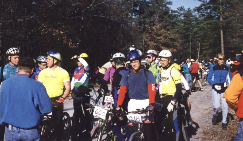 1993 - Suck Creek Classic - lined up with other NORBA Beginners