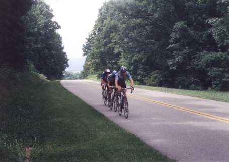1996 - Virginia commonwealth games - Blue Ridge Parkway outside of Roanoke