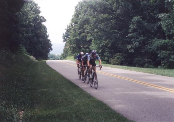 1996 - Virginia commonwealth games - Blue Ridge Parkway outside of Roanoke