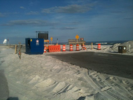This section of the national seashore was closed due to damage from Hurricane Isaac a couple weeks ago