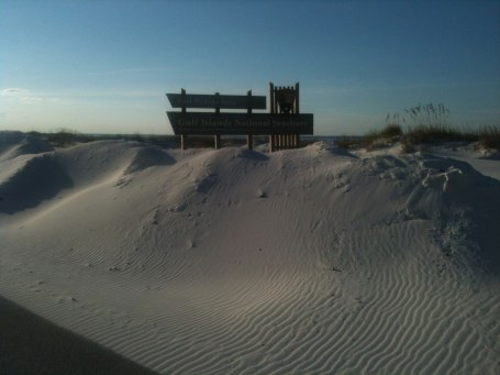 The Fort Pickens part of the national seashore