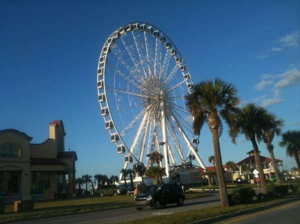 The huge ferris wheel next to our hotel