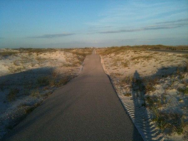 Rolling dune on the bike path