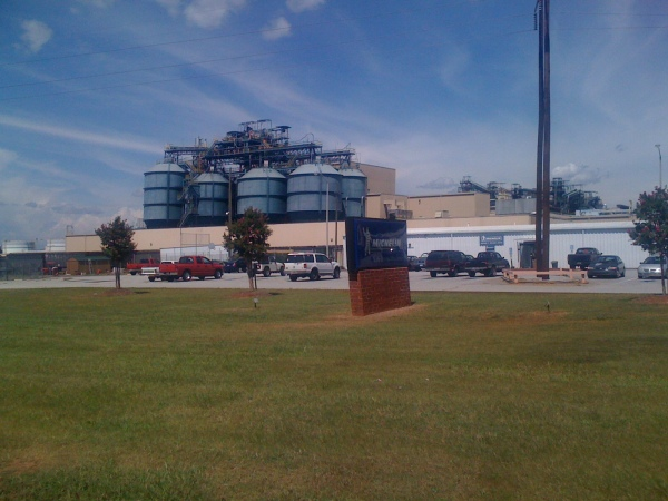 The backside of the Michellin plant that you can see the entrance to off of US 76