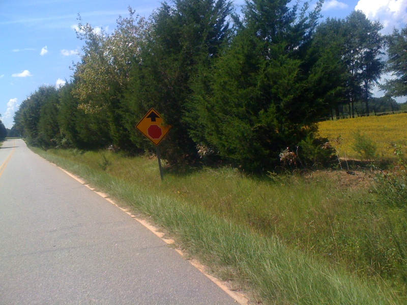 Another sprint sign on the sprint loop