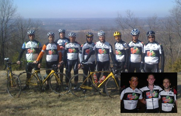 2008 Tria Cycling team on the last day of our winter training camp at sponsor Dan Taylor's house next to Alabama's only ski resort in Mentone.