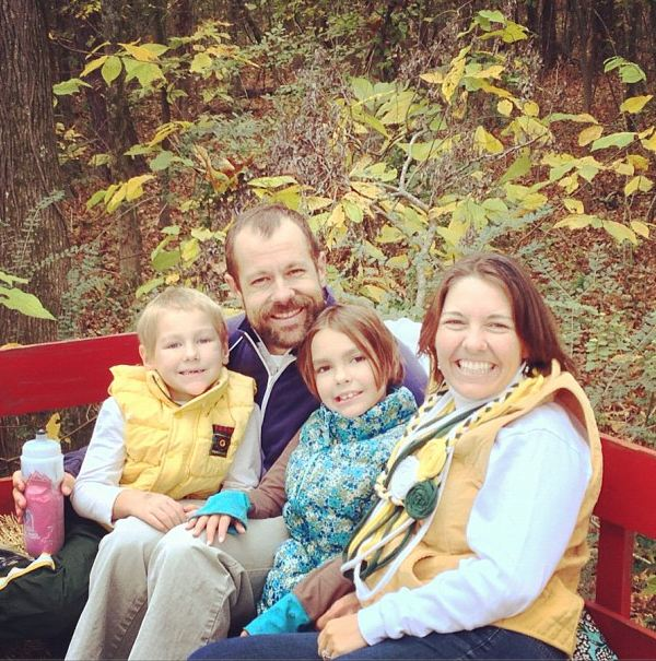 A family picture before heading out on the hay ride to the pumpkin patch.