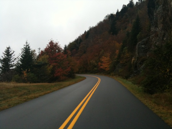 Beautiful fall colors on the parkway above 5000ft