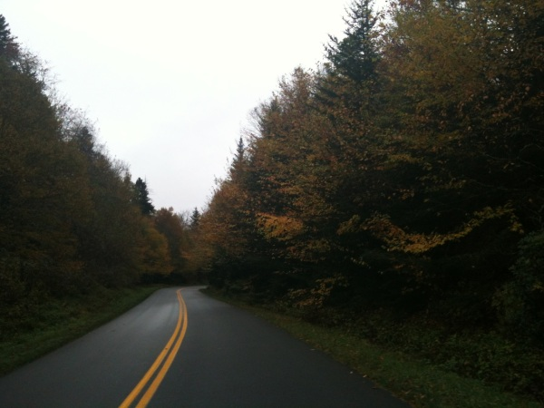 More fall foliage high on the parkway