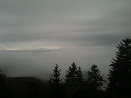 Above the clouds at rough butt bald overlook