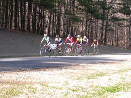 2005 - Camp Sumataunga, AL - me in the break during the A training race. I believe that is Mark Simpson pulling at the front and me hanging on at the back