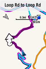 This screenshot is actually from my ride yesterday where I had a Garmin course plugged in ... Note all the squiggly lines especially in the direction arrow ... love it!