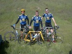 2002 - Davis, CA - after another year of no racing and only riding 20-30 miles a week (on my mtb to/from the lab), I catted down to C's and placed third as part of a 1-2-3 podium sweep of the Cat C road race